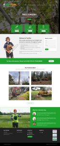 WordPress Theme Developer Tree Surgeon Mobile Responsive